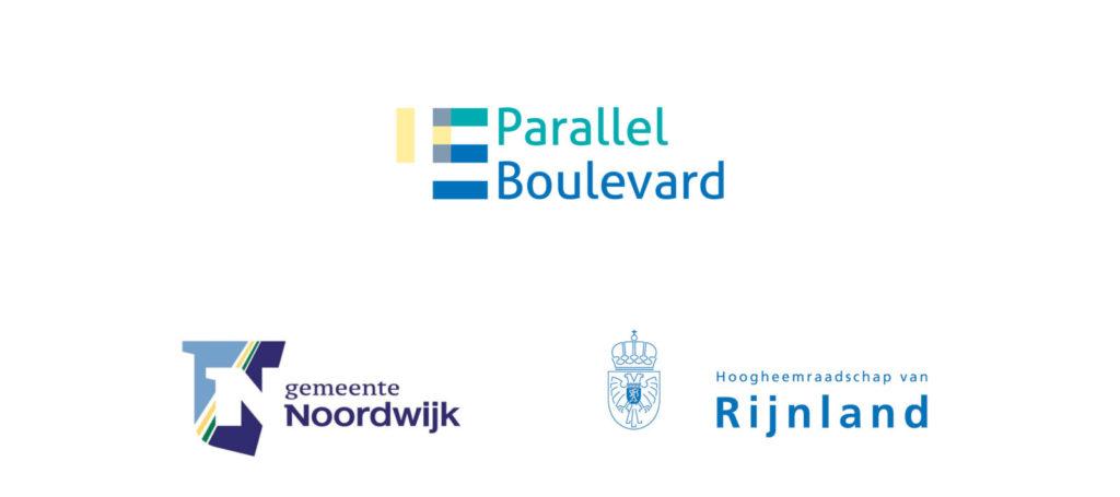 Logo Parallel Boulevard, logo gemeente Noordwijk, logo hoogheemraadschap van Rijnland
